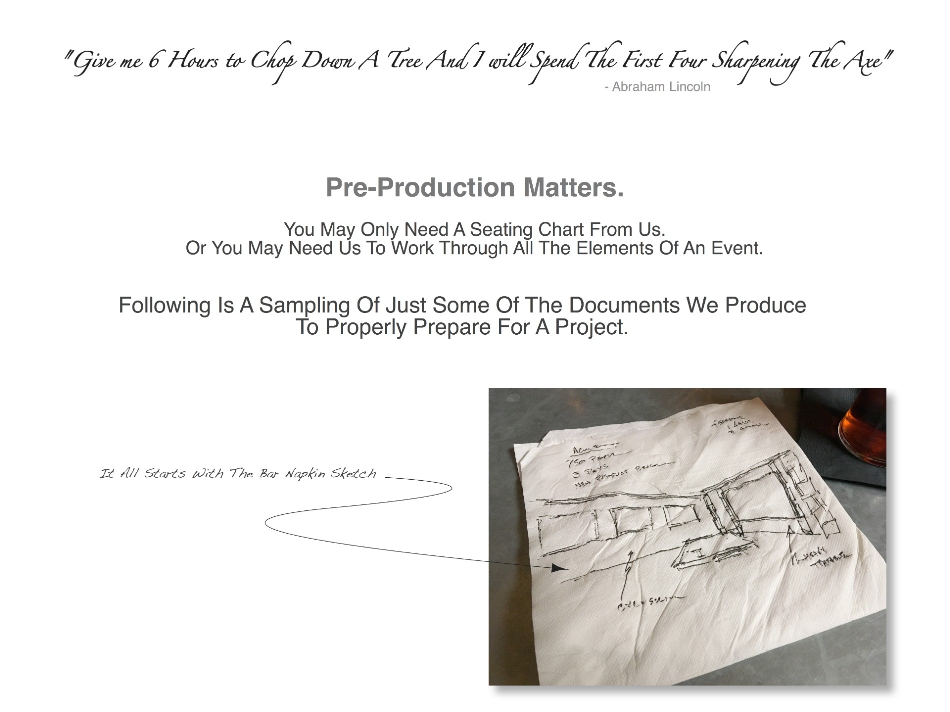 Anatomy of a Project | Black 36 Inc.